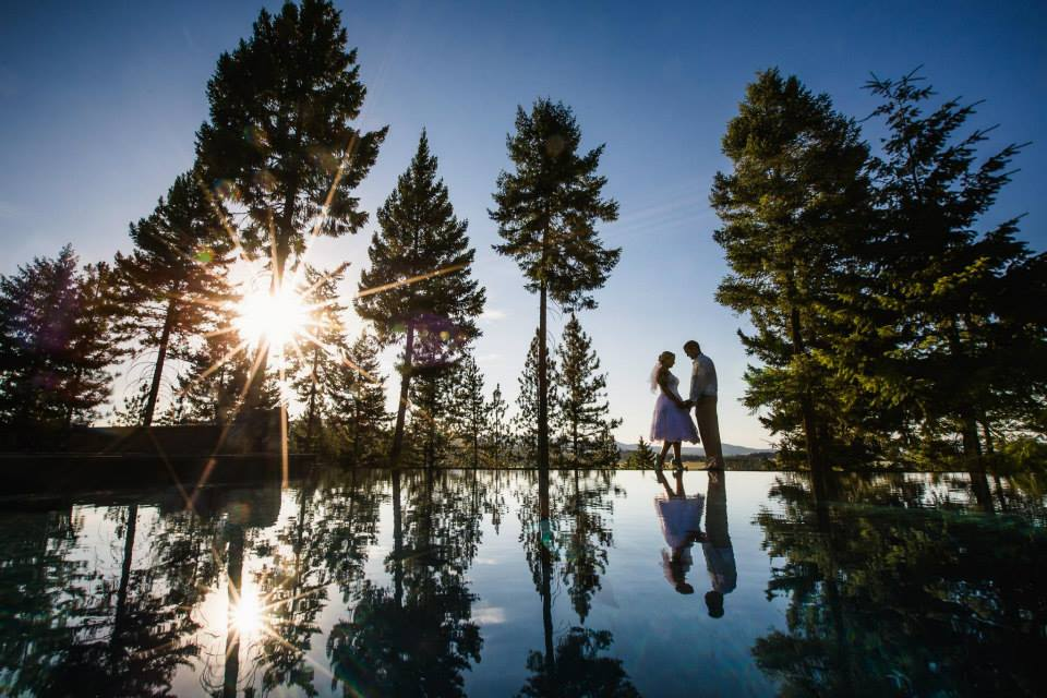 RockingKRanch-WeddingVenueInfinityPoolSunsetMarriage